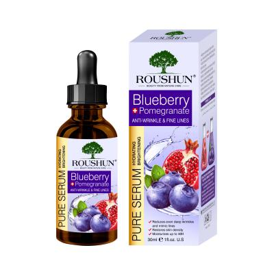 Pure Hydrating Brightening Anti-Wrinkle and Fine lines Moisturing Blueberry Face Serum